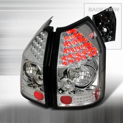 Headlights & Tail Lights - Led Tail Lights - Custom Disco - Dodge Magnum Custom Disco Chrome & Clear LED Taillights - LT-MAG05CLED