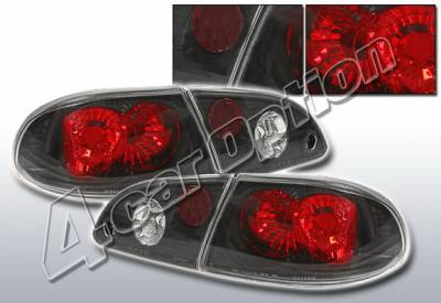 Headlights & Tail Lights - Tail Lights - 4 Car Option - Toyota Corolla 4 Car Option Altezza Taillights - Black - LT-TCL98B-KS