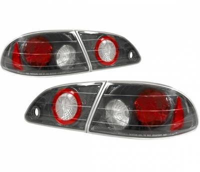 Headlights & Tail Lights - Tail Lights - 4 Car Option - Toyota Corolla 4 Car Option Altezza Taillights - Carbon Fiber Style - LT-TCL98F-YD