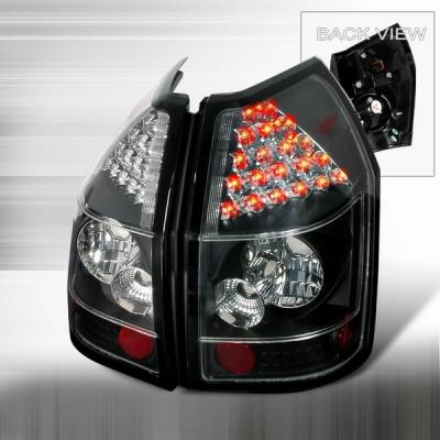 Headlights & Tail Lights - Led Tail Lights - Custom Disco - Dodge Magnum Custom Disco Black & Clear LED Taillights - LT-MAG05JMLED