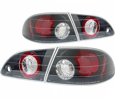 Headlights & Tail Lights - Tail Lights - 4 Car Option - Toyota Corolla 4 Car Option Altezza Taillights - Black - LT-TCL98JB-YD