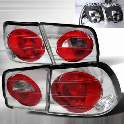 Headlights & Tail Lights - Tail Lights - Custom Disco - Nissan Maxima Custom Disco Chrome Taillights - LT-MAX95-YD