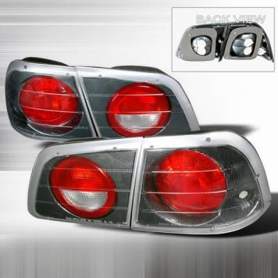 Headlights & Tail Lights - Tail Lights - Custom Disco - Nissan Maxima Custom Disco Carbon Fiber Taillights - LT-MAX97CF-YD