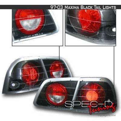 Headlights & Tail Lights - Tail Lights - Custom Disco - Nissan Maxima Custom Disco JDM Black Taillights - LT-MAX97JM-YD