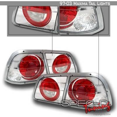 Headlights & Tail Lights - Tail Lights - Custom Disco - Nissan Maxima Custom Disco Chrome Taillights - LT-MAX97-YD
