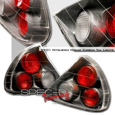 Headlights & Tail Lights - Tail Lights - Custom Disco - Mitsubishi Mirage Custom Disco Carbon Taillights - LT-MRG97CF-YD