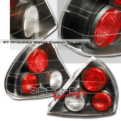 Headlights & Tail Lights - Tail Lights - Custom Disco - Mitsubishi Mirage Custom Disco JDM Black Taillights - LT-MRG97JM-YD