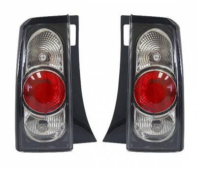 Headlights & Tail Lights - Tail Lights - 4 Car Option - Scion xB 4 Car Option Taillights - JDM Black - LT-TS01B2