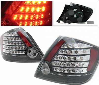 Headlights & Tail Lights - Led Tail Lights - 4 Car Option - Scion tC 4 Car Option LED Taillights - Black - LT-TSTC04LEDJB-KS