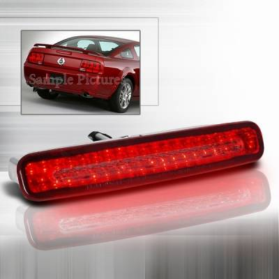 Headlights & Tail Lights - Led Tail Lights - Custom Disco - Ford Mustang Custom Disco Red LED 3rd Brake Taillights - LT-MUS05RBRLED