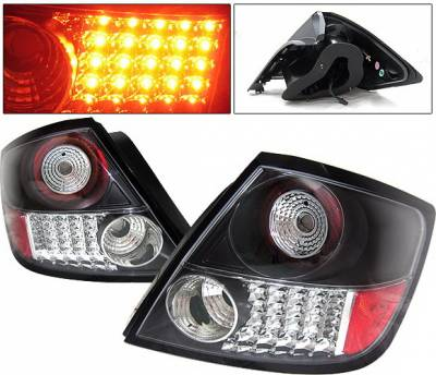 Headlights & Tail Lights - Led Tail Lights - 4 Car Option - Scion tC 4 Car Option LED Taillights - Black - LT-TSTC04LEDJB-YD