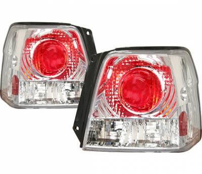 Headlights & Tail Lights - Tail Lights - 4 Car Option - Toyota Tercel 4 Car Option Altezza Taillights - Chrome - LT-TT98A-KS