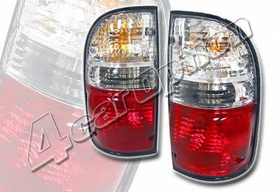 Headlights & Tail Lights - Tail Lights - 4 Car Option - Toyota Tacoma 4 Car Option OEM Taillights - Red & Clear - LT-TTA01RC-KS
