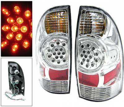 Headlights & Tail Lights - Led Tail Lights - 4 Car Option - Toyota Tacoma 4 Car Option LED Taillights - Chrome - LT-TTA05LEDC-KS
