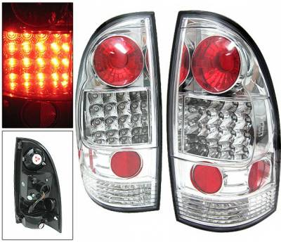 Headlights & Tail Lights - Led Tail Lights - 4 Car Option - Toyota Tacoma 4 Car Option LED Taillights - Chrome - LT-TTA05LEDC-YD