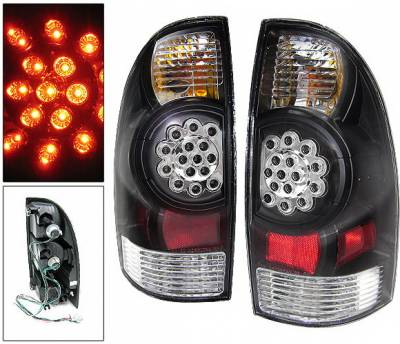 Headlights & Tail Lights - Led Tail Lights - 4 Car Option - Toyota Tacoma 4 Car Option LED Taillights - Chrome - LT-TTA05LEDJB-KS