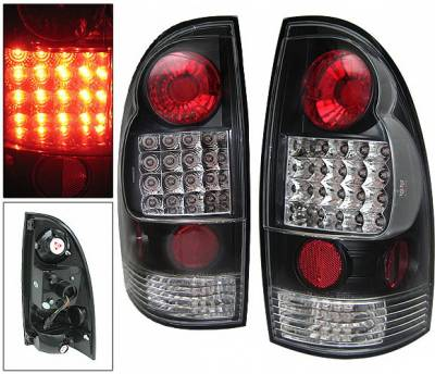 Headlights & Tail Lights - Led Tail Lights - 4 Car Option - Toyota Tacoma 4 Car Option LED Taillights - Black - LT-TTA05LEDJB-YD