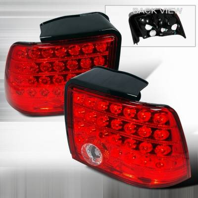 Headlights & Tail Lights - Led Tail Lights - Custom Disco - Ford Mustang Custom Disco Red LED Taillights - LT-MUS99RLED-KS