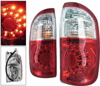 Headlights & Tail Lights - Led Tail Lights - 4 Car Option - Toyota Tundra 4 Car Option LED OEM Taillights - Red & Clear - LT-TTUN00LEDRC-KS