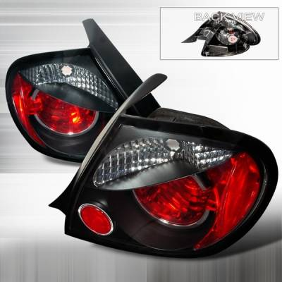 Headlights & Tail Lights - Tail Lights - Custom Disco - Dodge Neon Custom Disco Black Euro Altezza Taillights - LT-NEO03JM-YD