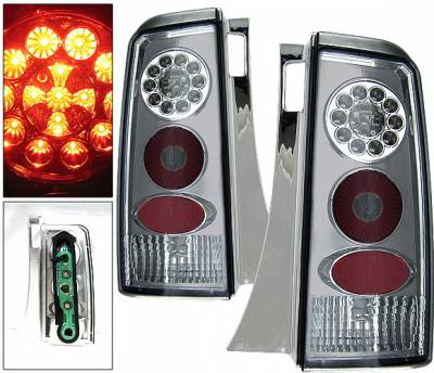 Headlights & Tail Lights - Led Tail Lights - 4 Car Option - Scion xB 4 Car Option LED Taillights - Smoke - LT-TXB03LEDSM-KS