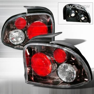 Headlights & Tail Lights - Tail Lights - Custom Disco - Dodge Neon Custom Disco Gunmetal Taillights - LT-NEO95G-YD