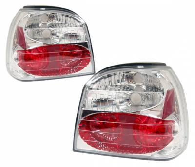 Headlights & Tail Lights - Tail Lights - 4 Car Option - Volkswagen Golf 4 Car Option Altezza Taillights - Chrome - LT-VG92A-YD