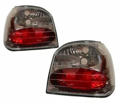 Headlights & Tail Lights - Tail Lights - 4 Car Option - Volkswagen Golf 4 Car Option Altezza Taillights - Gunmetal - LT-VG92G-YD