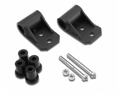Suspension - Shackles Hangers - Warrior - Jeep Wrangler Warrior Shackle Frame Brackets with Greasable Bushings & Bolts - 404