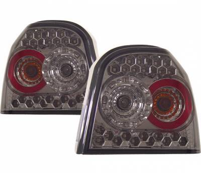 Headlights & Tail Lights - Led Tail Lights - 4 Car Option - Volkswagen Golf 4 Car Option LED Taillights - Smoke - LT-VG92LEDSM-KS