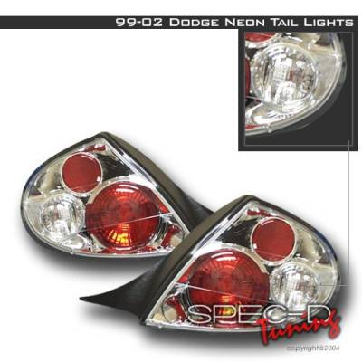 Headlights & Tail Lights - Tail Lights - Custom Disco - Dodge Neon Custom Disco Chrome Taillights - LT-NEO99-YD