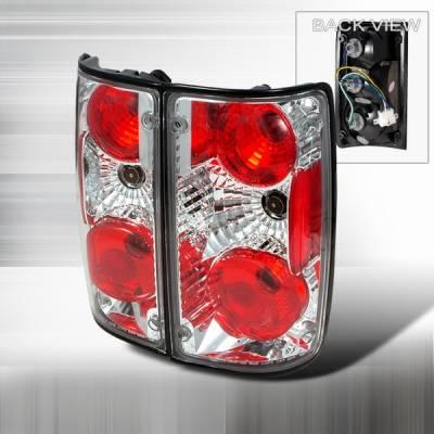 Headlights & Tail Lights - Tail Lights - Custom Disco - Toyota Pickup Custom Disco Chrome Taillights - LT-PIK89-YD