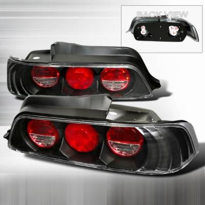 Headlights & Tail Lights - Tail Lights - Custom Disco - Honda Prelude Custom Disco JDM Black Taillights - LT-PL97JM-YD