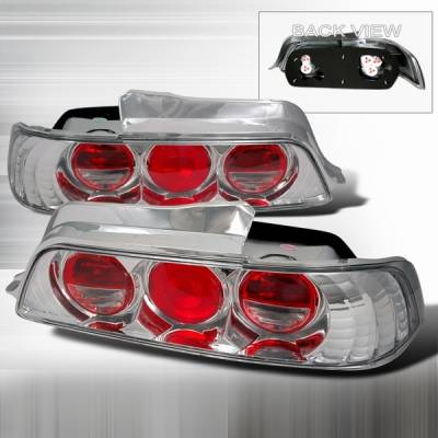 Headlights & Tail Lights - Tail Lights - Custom Disco - Honda Prelude Custom Disco Chrome Taillights - LT-PL97-YD