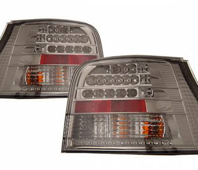 Headlights & Tail Lights - Led Tail Lights - 4 Car Option - Volkswagen Golf 4 Car Option LED Taillights - Smoke - LT-VG99LEDSM-KS