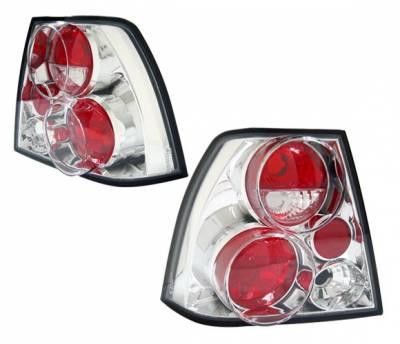 Headlights & Tail Lights - Tail Lights - 4 Car Option - Volkswagen Jetta 4 Car Option Altezza Taillights - Chrome - LT-VJ99A-YD