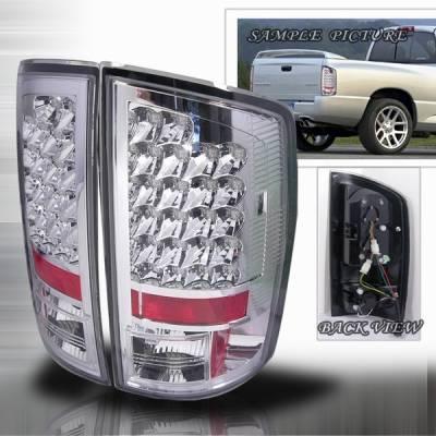 Headlights & Tail Lights - Led Tail Lights - Custom Disco - Dodge Ram Custom Disco Chrome Euro LED Taillights - LT-RAM02CLED-YD