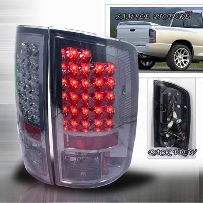 Headlights & Tail Lights - Led Tail Lights - Custom Disco - Dodge Ram Custom Disco Smoke Euro LED Taillights - LT-RAM02GLED-YD