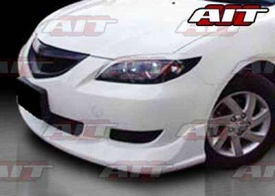 3 4Dr HB - Front Bumper - AIT Racing - Mazda 3 AIT KS Style Front Bumper - M303HIKENFB