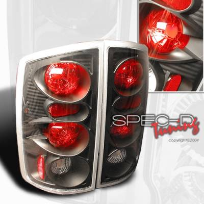 Headlights & Tail Lights - Tail Lights - Custom Disco - Dodge Ram Custom Disco Black Altezza Taillights - LT-RAM02JM-YD