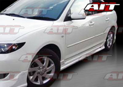 3 4Dr - Side Skirts - AIT Racing - Mazda 3 AIT Racing KS Style Side Skirts - M303HIKENSS