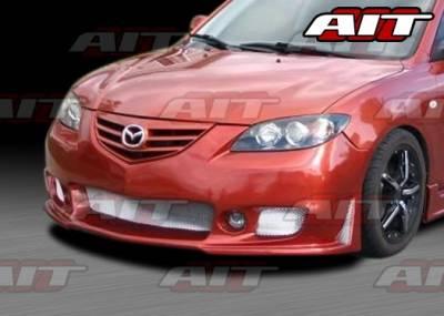 3 4Dr - Front Bumper - AIT Racing - Mazda 3 4DR AIT Zen Style Front Bumper - M303HIZENFB