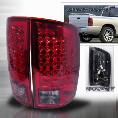 Headlights & Tail Lights - Led Tail Lights - Custom Disco - Dodge Ram Custom Disco Red & Clear Euro LED Taillights - LT-RAM02RLED-YD