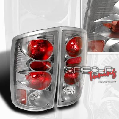 Headlights & Tail Lights - Tail Lights - Custom Disco - Dodge Ram Custom Disco Chrome Altezza Taillights - LT-RAM02S-YD