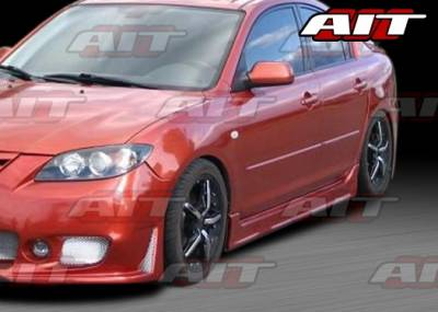 3 4Dr - Side Skirts - AIT Racing - Mazda 3 4DR AIT Zen Style Side Skirts - M303HIZENSS4
