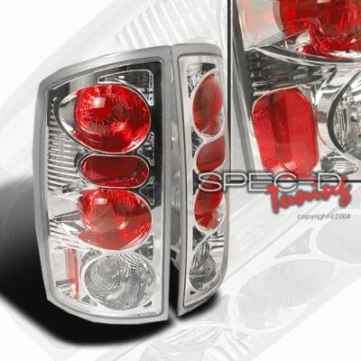 Headlights & Tail Lights - Tail Lights - Custom Disco - Dodge Ram Custom Disco Chrome Taillights - LT-RAM02-YD