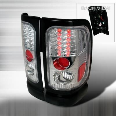 Headlights & Tail Lights - Led Tail Lights - Custom Disco - Dodge Ram Custom Disco Chrome LED Taillights - LT-RAM94CLED-YD