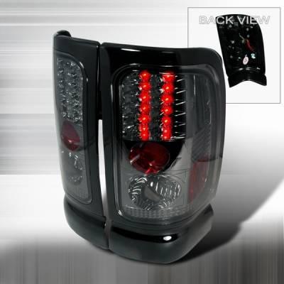 Headlights & Tail Lights - Led Tail Lights - Custom Disco - Dodge Ram Custom Disco Smoke LED Taillights - LT-RAM94GLED-YD