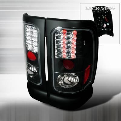 Headlights & Tail Lights - Led Tail Lights - Custom Disco - Dodge Ram Custom Disco Black LED Taillights - LT-RAM94JMLED-YD