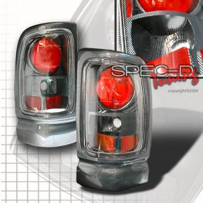 Headlights & Tail Lights - Tail Lights - Custom Disco - Dodge Ram Custom Disco Carbon Fiber Taillights - LT-RAM96CF-YD